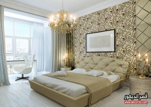 ديكورات غرف نوم ورق جدران