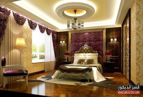 ديكور جبس غرف نوم سعودية