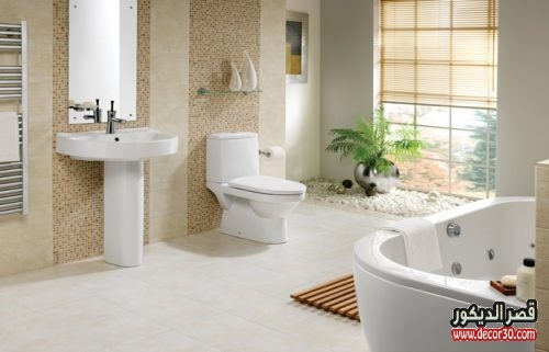 ديكور حمامات منازل كبيرة