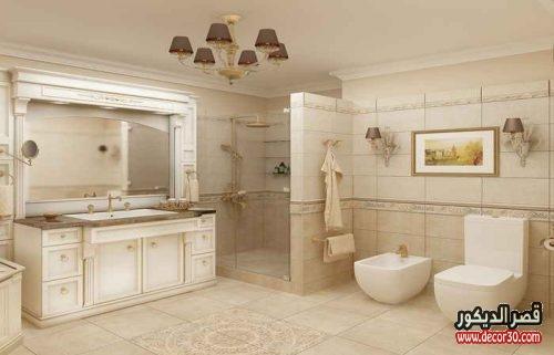 ديكور حمامات منازل مساحة كبيرة