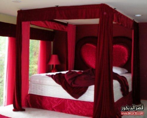 ديكور غرف نوم قلوب