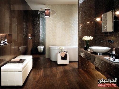 سيراميك حمامات بالوان حديثة