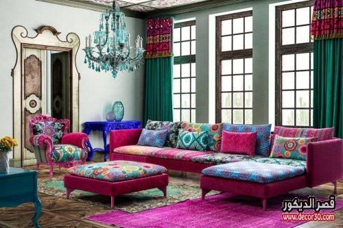 صالونات تركية حديثة بعدة ألوان