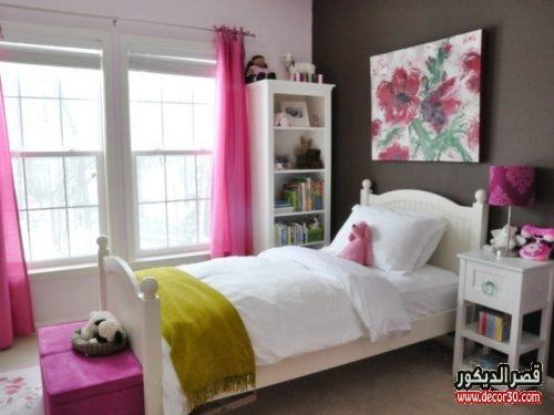 غرفة نوم بنات مساحة صغيرة