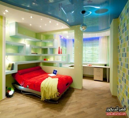 غرف نوم اطفال جبس بورد ولاد