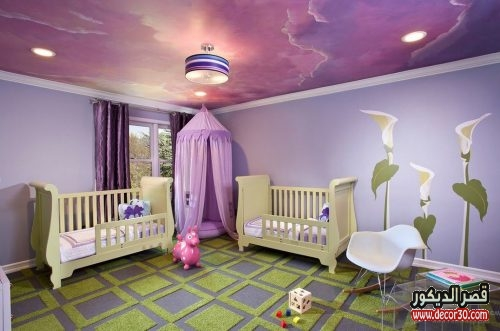 غرف نوم اطفال جبس بورد 2018