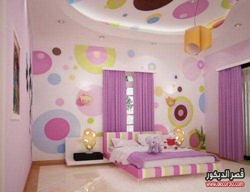 غرف نوم اطفال جبس بورد