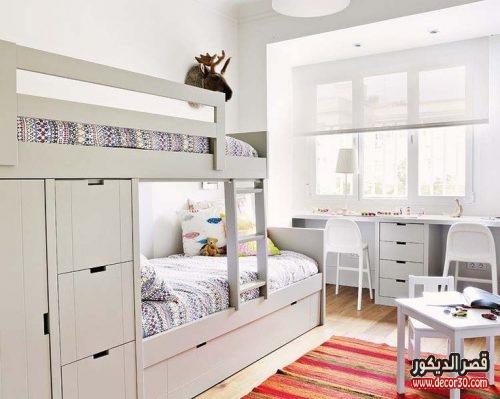 غرف نوم اولاد بسريرين فوق بعض