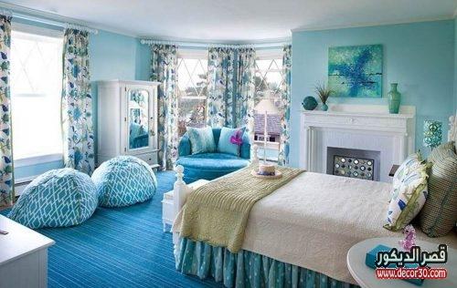 غرف نوم باللون اللبني