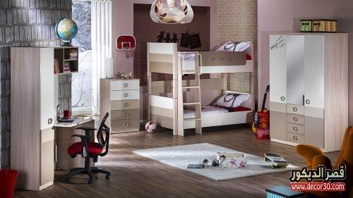 غرف نوم شباب بسريرين