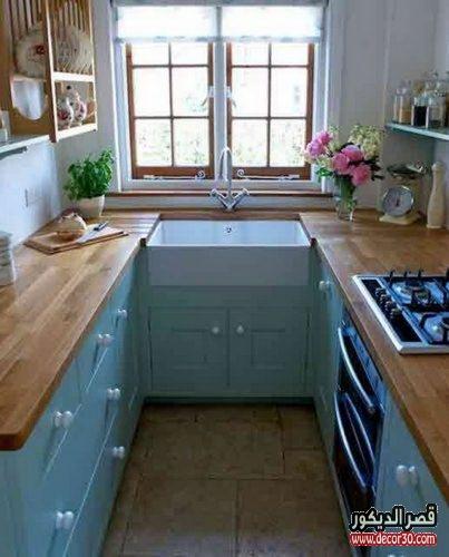 مطبخ صغير خشب