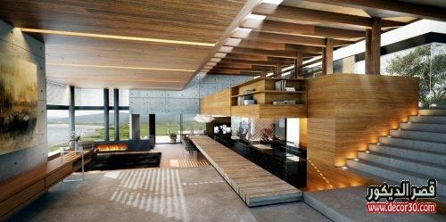منازل تركية من الداخل بتصاميم خشبية حديثة