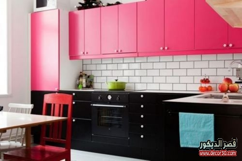 colorful kitchen design beautiful pink