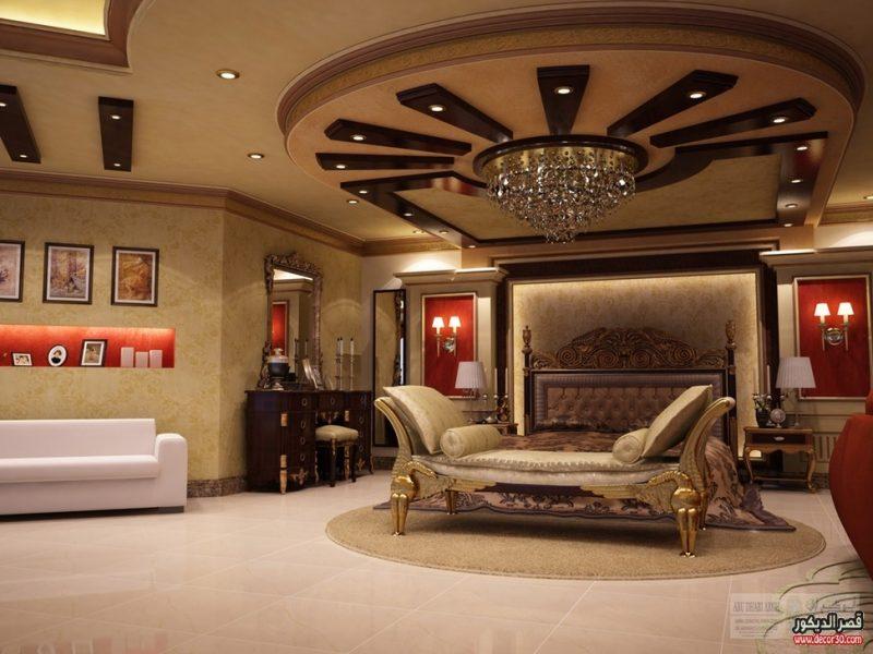 ديكورات غرف نوم جبسديكورات اسقف جبس غاية فى الروعة قصر الديكور
