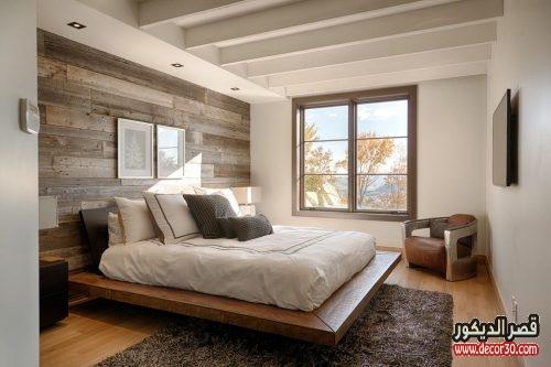 أشكال جدران غرف نوم حديثه