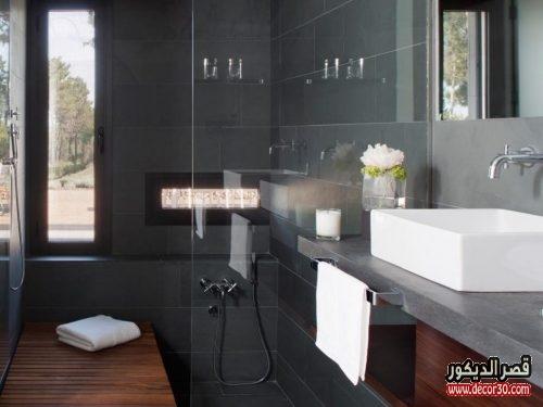 تصاميم حمامات صغيرة مربعة 2018