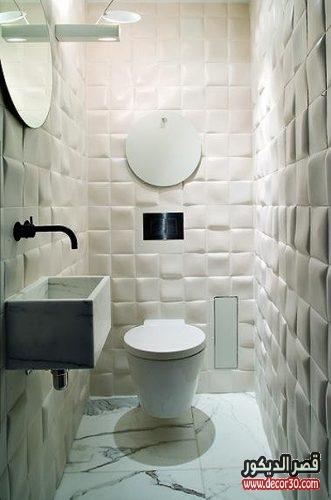 تصاميم حمامات مستطيلة صغيرة