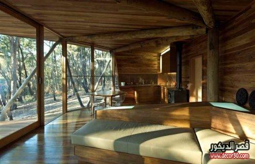 تصاميم ديكورية خشبية للفلل