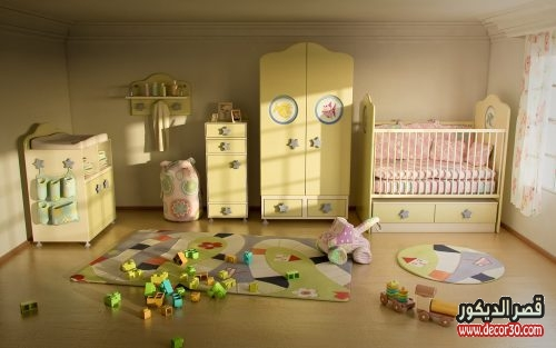 تصاميم غرف نوم اطفال حديثي الولادة