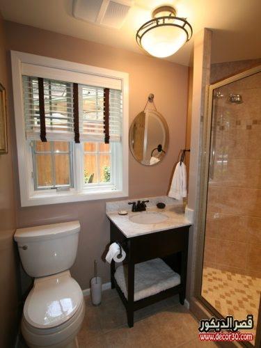 تصميمات حمامات صغيرة وبسيطة