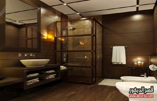 تصميم حمام خشبي