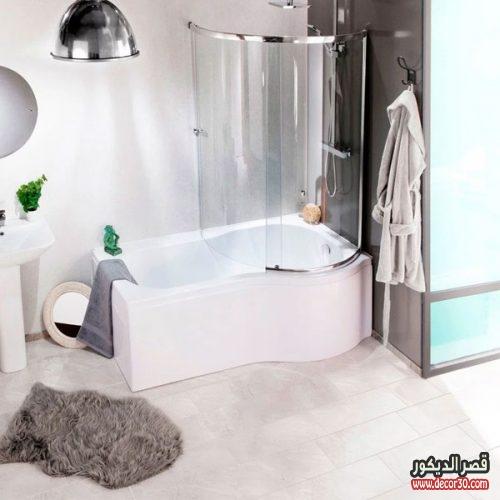 حمامات بسيطه ومربعة صغيرة