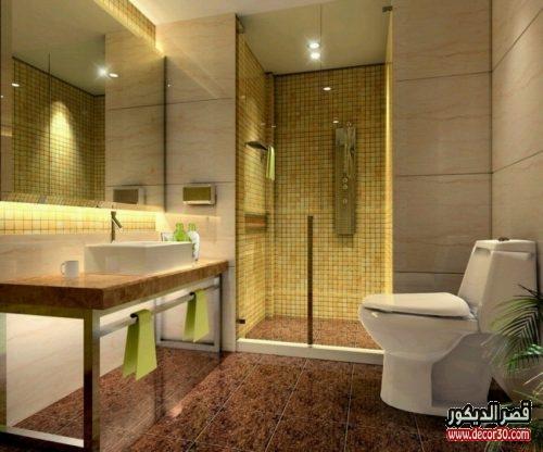 حمامات صغيرة مودرن