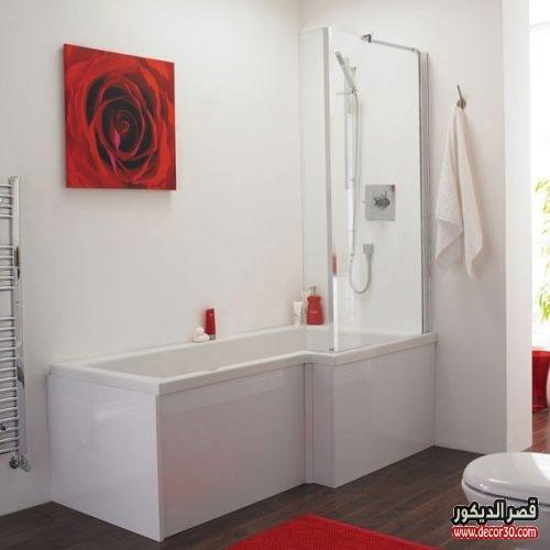 ديكورات حمامات مربعة الشكل