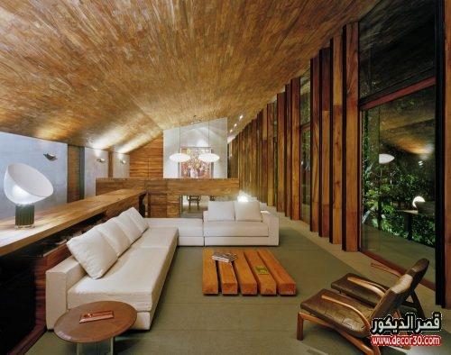 ديكورات خشبية داخلية