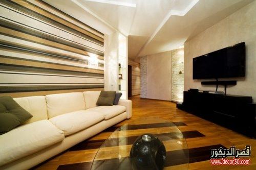 ديكورات خشبية لغرفة المعيشة