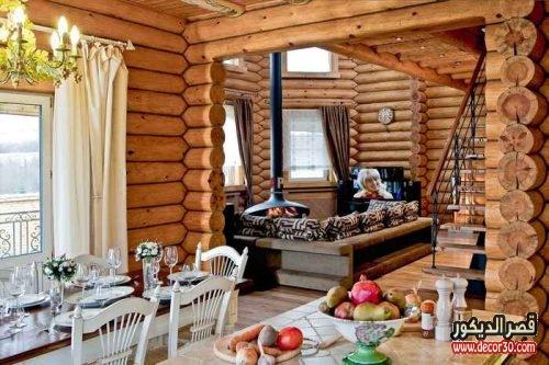 ديكورات خشب داخلية وخارجية للشقق والفلل