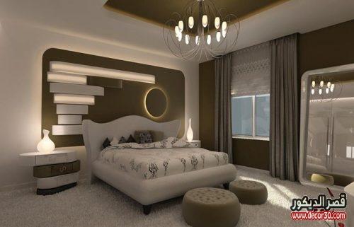 ديكورات زخرفية لجبس مغربي لغرف النوم
