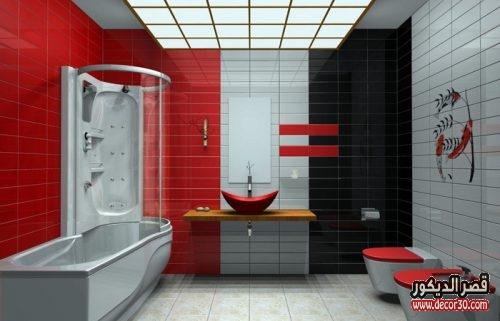 ديكور حمامات حديثة