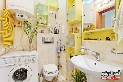 ديكور حمامات صغيرة جدا وبسيطة