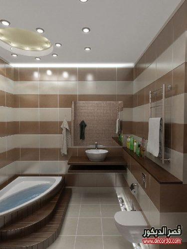 ديكور حمامات صغيرة مستطيلة