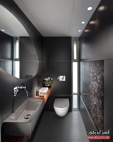 ديكور حمامات مستطيله بالمنازل