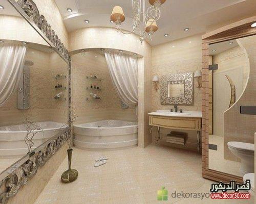 ديكور حمامات منازل واسعه
