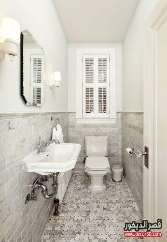 ديكور حمامات صغيرة جدا وبسيطة 50 تصميم حمامات بافكار متنوعة قصر الديكور