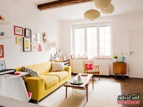 شكل غرفة معيشة بسيطة