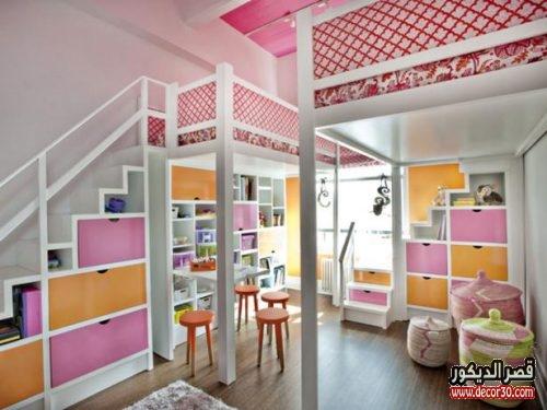 غرف نوم أطفال تناسب كل المساحات وبألوان مبهجة