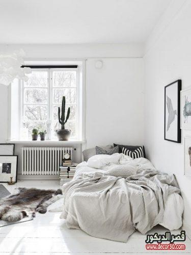 غرف نوم بألوان فاتحة