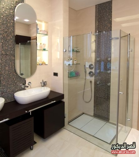 ديكور حمامات صغيرة جدا وبسيطة 50 تصميم حمامات بافكار متنوعة قصر