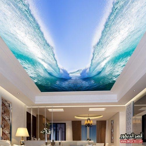 ورق جدران للاسقف ثلاثي الابعاد