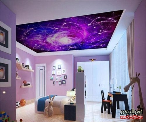 3D wallpaper custom size photo livingroom hang ceiling mural color galaxy