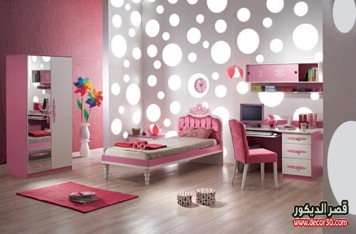 Bright Pink Bedroom for Girls