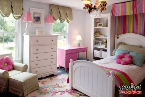 Little girl bedroom interior decoration