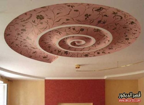 Modern Floral Ceiling Wallpaper Design Ideas - ديكور سقف