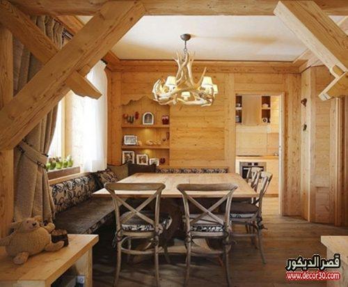 Rustic wooden apartment design Italy