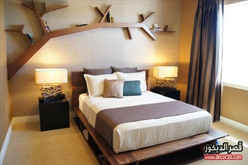 bedroom wall shelving