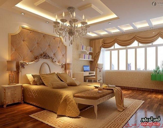 ديكورات جبسية لغرف النوم